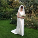 Louise Selby Sunflower Wedding Dress Kew Real Bride